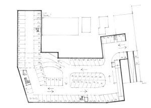 plattegrond tekening parkeergarage centrum Bergen nh