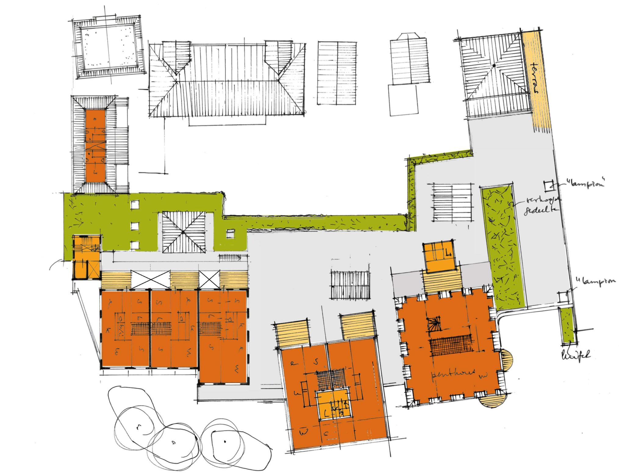 Plattegrond De zevendorpelingen 2e verdieping