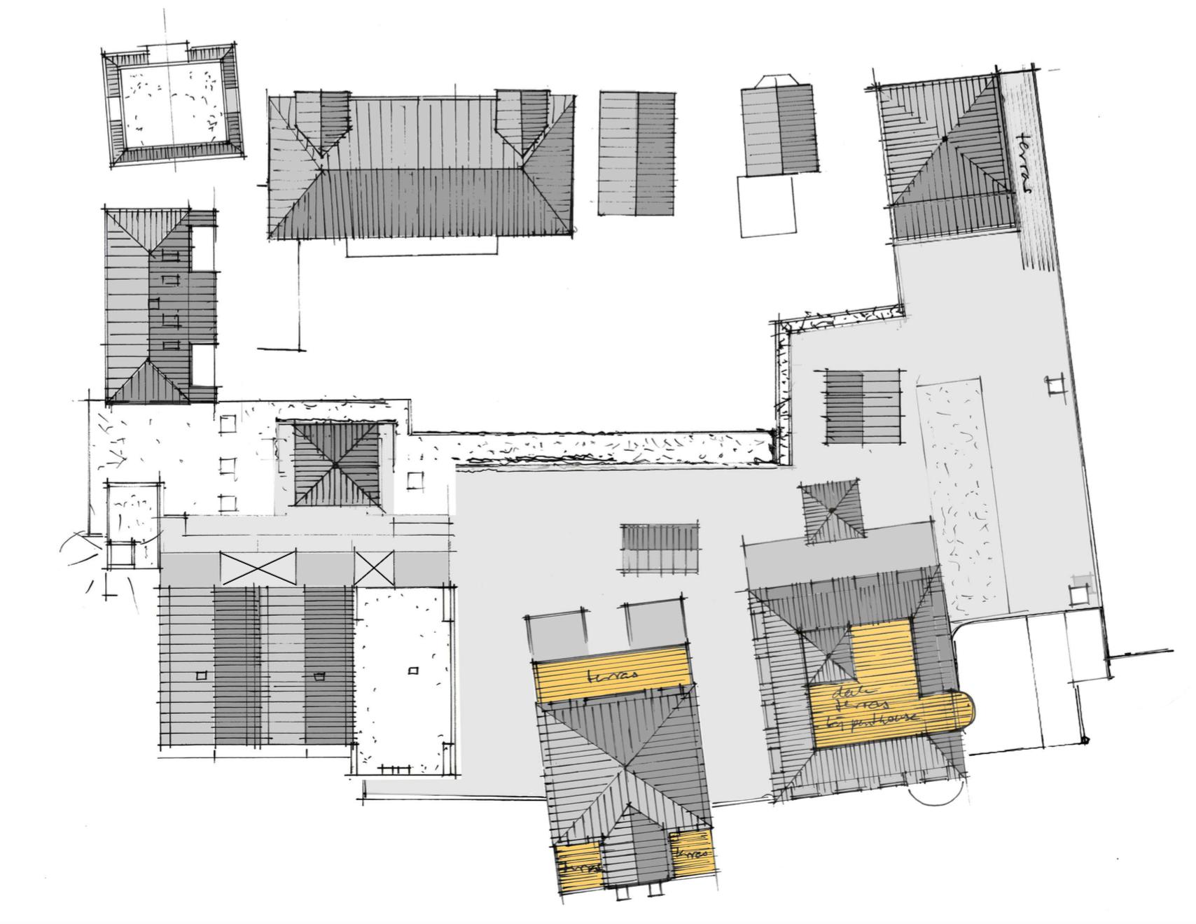Platte grond De zevendorpelingen dak & terras